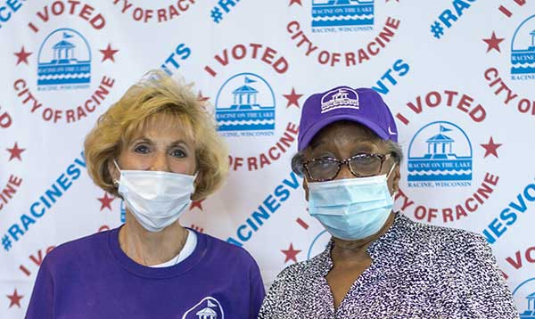 poll workers Racine WI