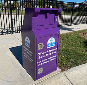 Ballot Drop Box in Racine WI
