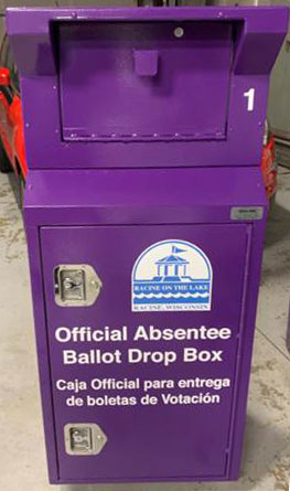 Racine vote absentee drop off box